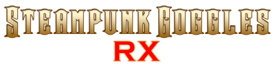 steampunk glasses logo