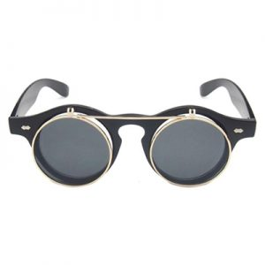 flip-up steampunk glasses prescription
