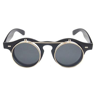 flip-up steampunk glasses prescription