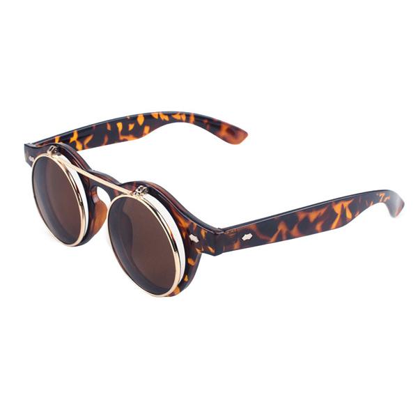 tortoiseshell steampunk glasses